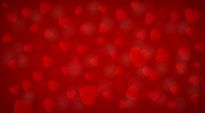 Beautiful red hearts background Stock Image