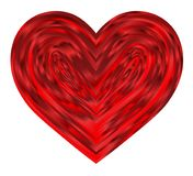 Beautiful red hearts inside Valentine`s hearts Royalty Free Stock Photography