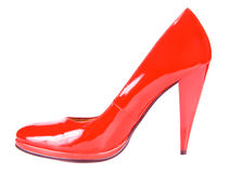 Beautiful red high-heeled shoe Stock Image