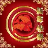 Beautiful red Koi carps Stock Photography