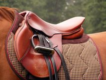 Red saddle Stock Photos