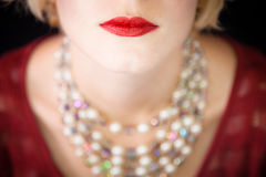 Beautiful red lips ! Royalty Free Stock Image