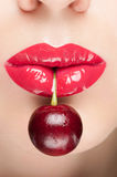 Beautiful red lips. Stock Image