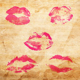 Beautiful red lips Royalty Free Stock Photography