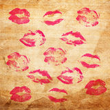 Beautiful red lips Royalty Free Stock Photos