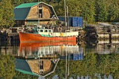 Beautiful Red Lobster Boat Royalty Free Stock Images