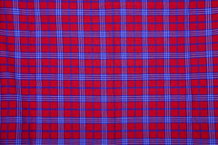 Beautiful red Masai blanket Royalty Free Stock Photos