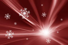 Beautiful red motion blurred Xmas snowflake background Royalty Free Stock Photography