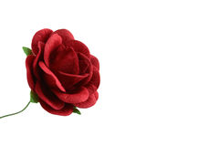 Beautiful red paper flower isolated on white. Royalty Free Stock Photography
