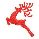 Beautiful red reindeer decoration Stock Photos