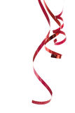 Beautiful red ribbon Stock Images