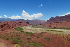 Beautiful red rock valley Royalty Free Stock Images