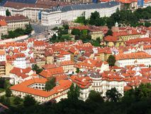 Beautiful red roofs of Prague, Czech republic Stock Photos