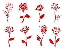 Beautiful red roses stock illustration
