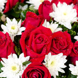 Beautiful red roses bouquet Stock Photography