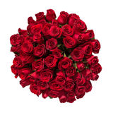Beautiful red roses bouquet  isolated on white Stock Photography