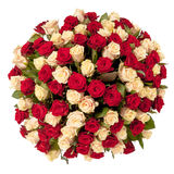Beautiful red roses bouquet  isolated on white Royalty Free Stock Photography
