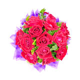 Beautiful red roses bouquet. Isolated on white background with working path Royalty Free Stock Image