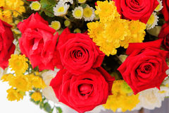 Beautiful red roses flowers bouquet for interior decorated in 14 Royalty Free Stock Photos