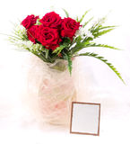 Beautiful red roses in vase Royalty Free Stock Image
