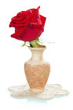 Beautiful red roses in a vase Royalty Free Stock Photos