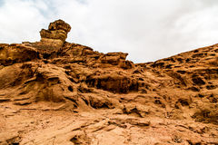Beautiful red sandstone in the desert in Israel, Timna Park Royalty Free Stock Images
