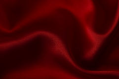 Beautiful red satin as Day Valentine background Royalty Free Stock Photo