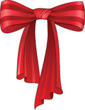 Beautiful red silk bow Royalty Free Stock Photo