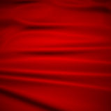 Beautiful Red Silk.Drapery Textile Background Stock Images