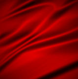 Beautiful Red Silk.Drapery Textile Background Stock Photo