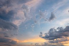 Free Beautiful Red Sky And Cloud In Sunset, Colorful Evening Nature. Royalty Free Stock Photography - 121363867