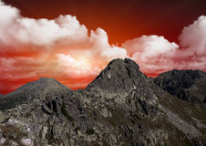 Beautiful red sky Royalty Free Stock Photos