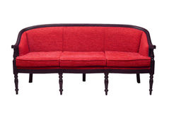 Beautiful red sofa in a classical style Stock Image
