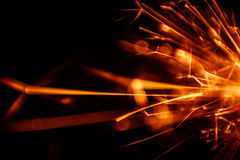 Beautiful red sparkler candle. Stock Photo