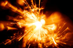 Beautiful red sparkler candle. Royalty Free Stock Images