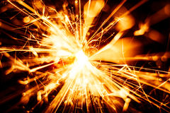 Beautiful red sparkler candle. Stock Photography