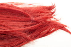 Beautiful red spiky hair Stock Photos