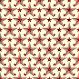 Beautiful red stars on a light background seamless pattern vector illustration Stock Image