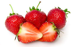 Beautiful red strawberries Royalty Free Stock Photography