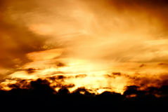 The beautiful red sunset Royalty Free Stock Photography