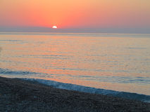 Beautiful red sunset over the sea Royalty Free Stock Image