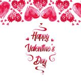 Beautiful red text Valentine`s day Royalty Free Stock Photo