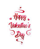Beautiful red text Valentine`s day Royalty Free Stock Image