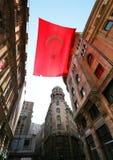 Beautiful red Turkish flag Stock Photos