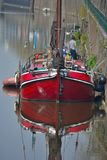 Beautiful red vintage boat Royalty Free Stock Photography