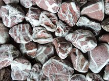 Colorful different shape natural stones, Lithuania stock image