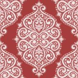 Beautiful red and white floral seamless pattern. stock illustration