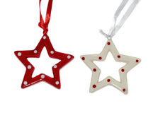 Beautiful red and white stars Stock Images