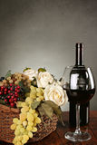 Beautiful red wine composition Stock Photography