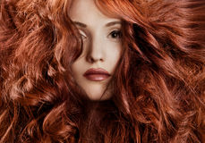 Beautiful redhair woman close-up portrait Royalty Free Stock Photos